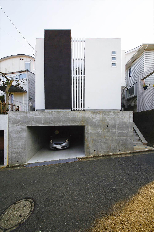 都心部のガレージハウス
